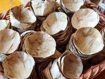 Montão da embarcação secada da licença da banana Fotografia de Stock