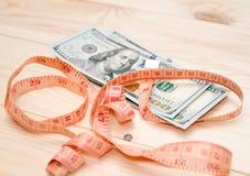 Montão da medida do dinheiro fotos de stock royalty free