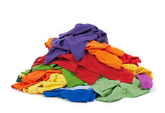 Montão da roupa colorida imagem de stock royalty free