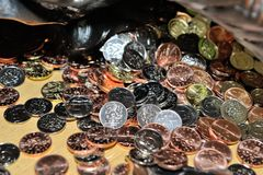 Montão das moedas Fotografia de Stock Royalty Free