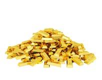 Montão de barras de ouro imagens de stock royalty free