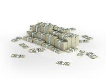 Montão de blocos do dinheiro Ilustração do Vetor