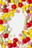 Montão de comprimidos coloridos Foto de Stock Royalty Free
