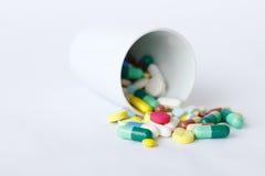 Montão de comprimidos da medicina Imagens de Stock
