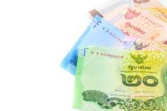 Montão de contas do baht tailandês Foto de Stock Royalty Free
