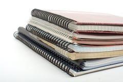 Montão de copy-books velhos Fotografia de Stock