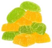 Montão de doces amarelos e verdes Imagem de Stock Royalty Free