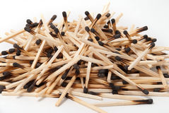 Montão de fósforos queimados Imagens de Stock Royalty Free