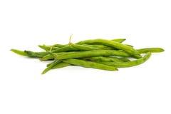 Montão de feijões verdes crus Imagens de Stock