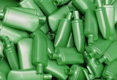Montão de frascos plásticos verdes Foto de Stock Royalty Free