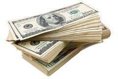 Montão de notas de banco de um dólar Fotos de Stock Royalty Free