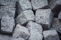 Montão de pedras quadradas cinzentas imagem de stock royalty free