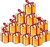Montão de presentes de Natal Fotos de Stock Royalty Free