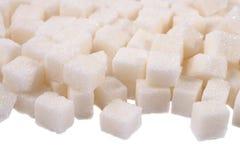 Montão do açúcar refinado fotografia de stock royalty free