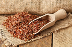 Montão do arroz vermelho fotos de stock