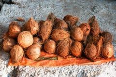 Montão do coco maduro imagens de stock