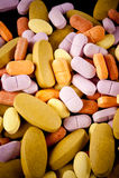 Montão do comprimido colorido Imagens de Stock