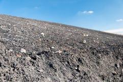 Montão do desperdício da mina de carvão Fotografia de Stock
