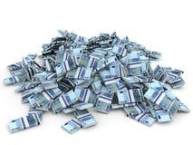 Montão do dinheiro Cem euro Imagem de Stock Royalty Free