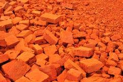 Montão do tijolo vermelho Fotos de Stock