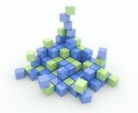 Montão dos cubos em um fundo branco Imagem de Stock Royalty Free