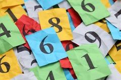 Montão dos números Fotos de Stock Royalty Free