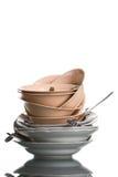 Montão dos pratos Fotos de Stock Royalty Free