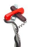 Montão dos telefones Imagens de Stock