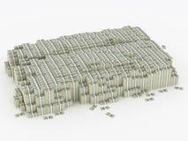 Montão enorme do dinheiro Ilustração Stock