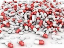 Montão enorme dos comprimidos Ilustração Stock
