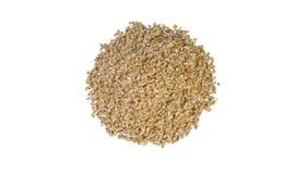 Montão soletrado esmagado isolado no fundo branco nutrition Ingrediente de alimento natural Vista superior fotos de stock