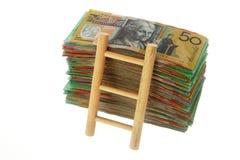 Montée de l'échelle financière Photographie stock libre de droits