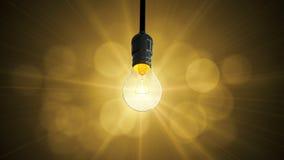 Montée de lueur d'oscillation d'ampoule, Photographie stock