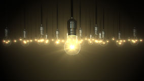 Montée de lueur d'oscillation d'ampoule, Photo stock
