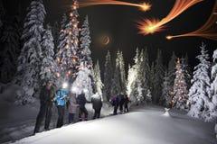Montée de nuit de Hoverla photo stock