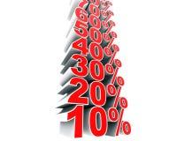 Montée de pourcentage Illustration Stock