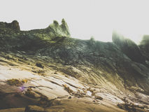 Montée du mont Kinabalu Image stock