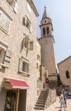 Monténégro : St Ivan de cathédrale dans le vieux Budva Images libres de droits