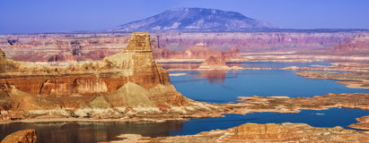 Montículo do Gunsight na área Utá EUA de Glen Canyon NationalRecreation Imagens de Stock Royalty Free