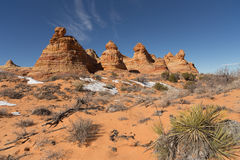 Montículos sul do chacal, monumento nacional dos penhascos Vermillion fotografia de stock