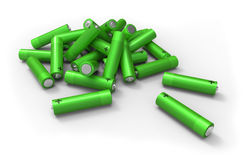 Montón de baterías Foto de archivo libre de regalías