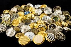 montón de botones retros Fotos de archivo