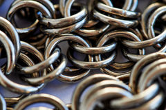 Montón de cadena - fondo abstracto del metal Fotografía de archivo libre de regalías