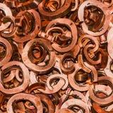Montón de chatarra del cobre foto de archivo