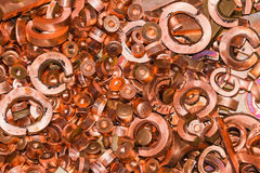 Montón de chatarra del cobre imagen de archivo libre de regalías