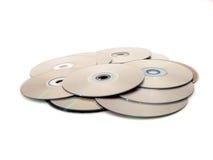 Montón de discos Fotografía de archivo libre de regalías