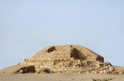 Montón de entierro excavado parcial en la aldea de Saar Fotografía de archivo