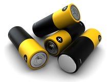 Montón de la batería Fotos de archivo libres de regalías