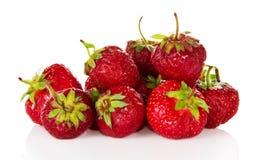Montón de la fresa roja madura Fotografía de archivo