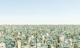 Montón de la hierba de los billetes de dólar del billete de banco Fotografía de archivo